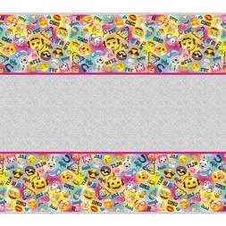 Emoji Plastic Table Cover Unicorn Smiley Kids Birthday Party