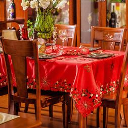 Europe Luxury <font><b>Table</b></font> Cloth Red Embroidere