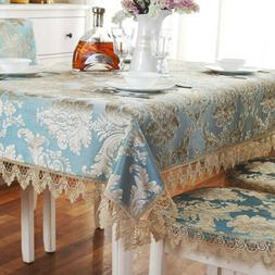 European Lace Embroidery Tablecloths Rectangle Square Cutwor