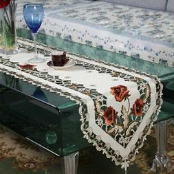 Exquisite Kitchen Dining Table Cover Pastoral Embroidered Ta