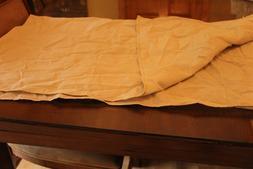 """Farm House Beige Table Cover 44"""" x 41"""" Cotton Blend"""