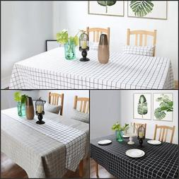 Fashion Home Kitchen Dining Room Cotton Linen Table Cloth Sp