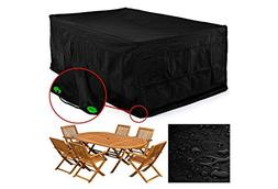 femor Rectangular Patio Table & Chair Set Cover, Durable and