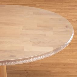 FITTED Clear Vinyl Round Oval Oblong Plastic Table Cover Clo