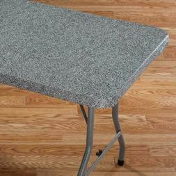 FITTED Granite Vinyl Banquet Card Table Cover 36 Square 48x2