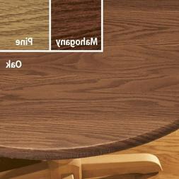 "FITTED Vinyl Wood Grain Table Cover 40-44"" 45-56"" Round 42x6"