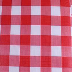 Exquisite Flannel Backed Vinyl Tablecloths, Solid Color Prem