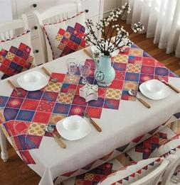 Bohemia flax tablecloth Dust Proof Table Cover For Kitchen D