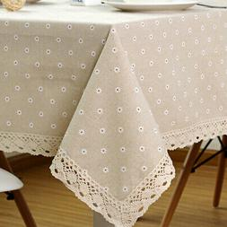 flower pattern tablecloth linen cotton table cloth