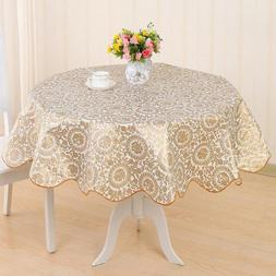 Flower Printing Round <font><b>Table</b></font> Cloth Waterp