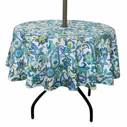 ColorBird Flower Tablecloth Waterproof Spillproof Polyester