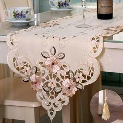 flowers embroidered table runner fashion contracted tea