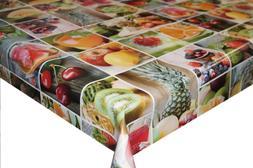 Fresh Fruit Juice PVC Tablecloth Vinyl Oilcloth Kitchen Dini