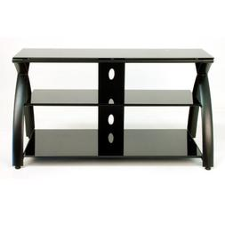 Calico Designs Futura TV Stand in Black with Black Glass 506