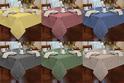 Garden Picnic Gingham Check Tablecloth Dining Room Table Lin
