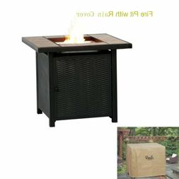 32'' ANTIQUE LP Gas Fireplace Fire Pit Table Outdoor 50000 B