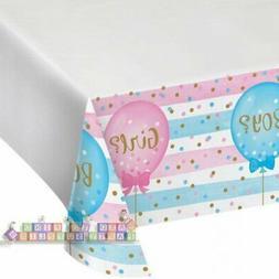GENDER REVEAL Girl or Boy Balloons PLASTIC TABLE COVER ~ Sho