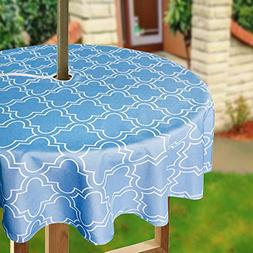 Eforcurtain Geometric Floral Print Umbrella Tablecloths with