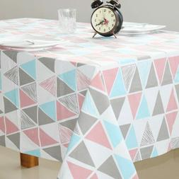 Geometric Printed Table Cloth Cotton Fabric Table Cover Home
