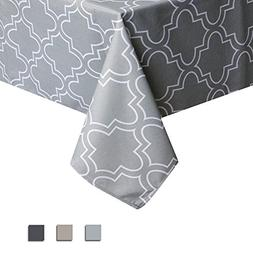 Eforcurtain Geometric Spillproof Fabric Tablecloth Modern St