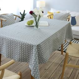 Geometry Teak Dining Table Cloth Cotton Linen Tablecloth Cov