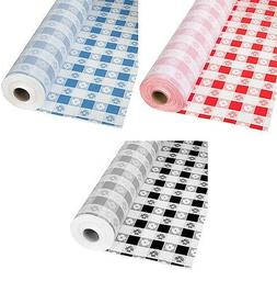 Gingham Patterns Plastic Banquet Table Cover Roll - 300 Feet
