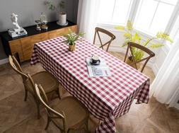 Aquazolax Gingham Plaid Table Cloth Decorative Table Cover f
