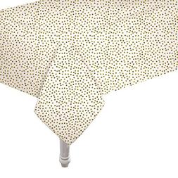 Gold Glitters Plastic Table Cover Rectangle for Wedding and