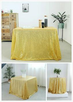 Gold Sequin Tablecloth Table Cover Dining Table Cloth Weddin