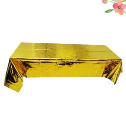 Golden Shiny Waterproof Tablecloth Rectangular Picnic Table