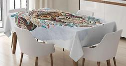 Grunge Pattern Tablecloth by Ambesonne 3 Sizes Rectangular T