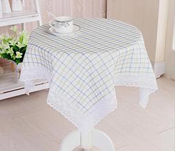 GYMNLJY Table cloth Lattice Fabric Tablecloth Bedside table