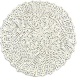 Handmade Crochet Cotton Lace Table Cover Doily Placemats, 23