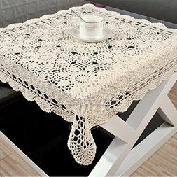 yazi Handmade Crochet Doilies Flower Tablecloth Cotton Sofa