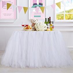 MACTING Handmade Glitter Sparkle Tutu Tulle Table Skirt Cove