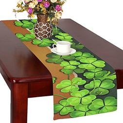 Artsadd Happy St. Patrick's Day Kitchen Dining Table Runner