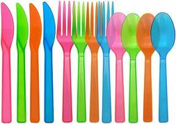 Hard Plastic Cutlery Combo Pack, 288 Pieces/96 Place Setting