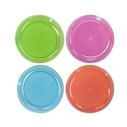 Party Essentials Hard Plastic 6-Inch Round Party/Dessert Pla