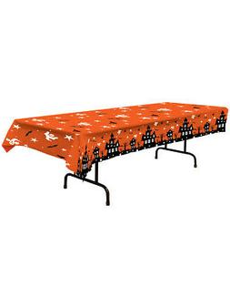 haunted house tablecover party accessory