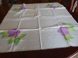 Hawaii Aloha Tea Table cover /cloth Floral Pale Yellow Nylon