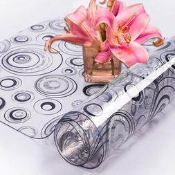 HAZY PVC Tablecloth Waterproof Rectangle <font><b>Table</b><