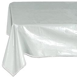 Ottomanson Heavy Duty Clear Plastic Tablecloth Clear Table C