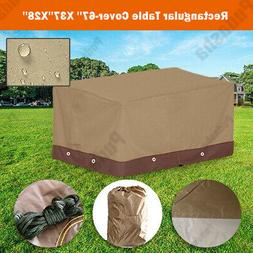 Heavy Duty Durable Rectangle Table Cover Outdoor Furniture D