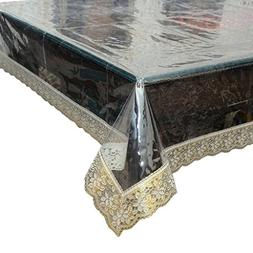 Heavy Duty Waterproof Clear Pleastic Table Cover, Beautiful