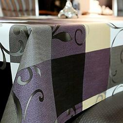 LEEVAN Heavy Weight Vinyl Rectangle Table Cover PVC Tableclo