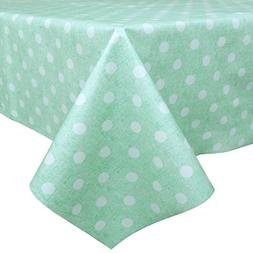 LEEVAN Heavy Weight Vinyl Square Table Cover Wipe Clean PVC