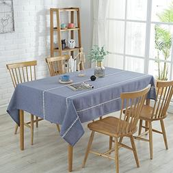 Enova Home Heavyweight Elegant Cotton Washable Tablecloths f