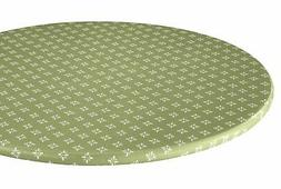Heritage Vinyl Elastic Table Cover with Fleece Backing in 3