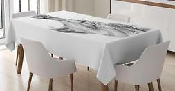Hippo Tablecloth Ambesonne 3 Sizes Rectangular Table Cover H