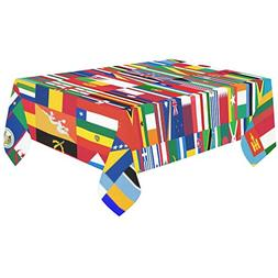 Artsadd Home Decor World Countries Flags Cotton Linen Tablec